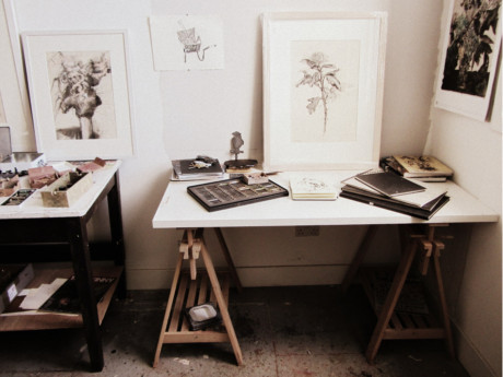 Lara Scouller, artist, dundee, inside studio, artist studio, scotland, drawing, 2013, uk, creative spaces, working spaces, art
