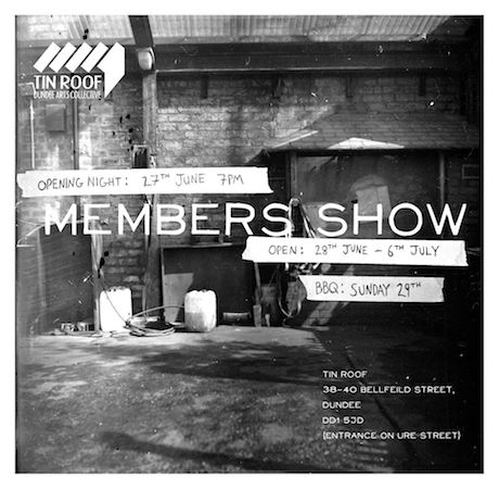 Tin Roof Summer Members Show Poster