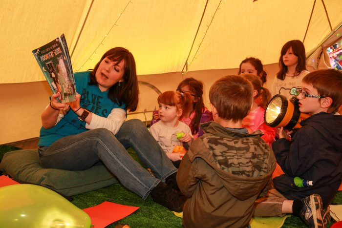 14th Rep Pop Up Storytelling Tent interior