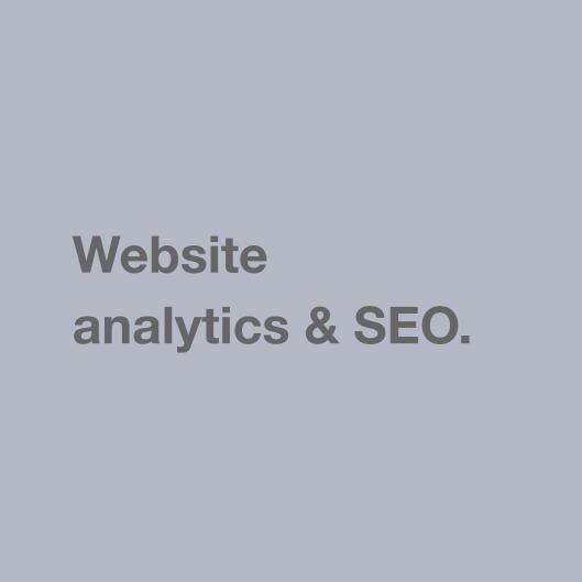 Website analytics & SEO.